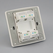 Wall Plate 4 Port RJ11 Cat3 Telephone Champagne Socket Outlet Panel Faceplate