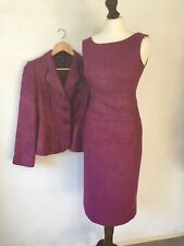 Hobbs Size 8 - 10 Suit Jacket & Dress Pink Lined Smart Occasion Work Office