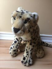 "FAO Schwarz Plush Cheetah Cat Animal Realistic Leopard Stuffed Toy 20"" Toys R Us"