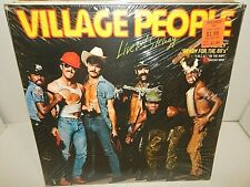 VILLAGE PEOPLE Live And Sleazy German Import 2 LP Factory Sealed Double LP Mint
