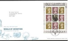 GB 2007 FDC World Of Invention Booklet Pane SGY1670a Menai Bridge pmk stamps
