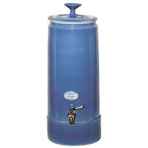 NEW Australian Made Ceramic Water Filter Purifier - Cornflower Blue Ultra Slim