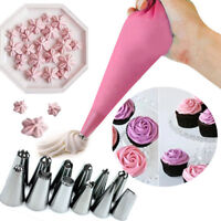 6/8/14PCS Nozzle Cake Decorating Tips Icing Piping Cream Pastry Bag DIY Set Cake