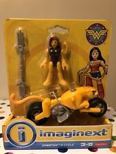 Imaginext Dc Super Friends Cheetah And Cycle Bike Rare (From Wonder Woman Range)