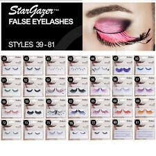 Stargazer False Reuseable Eyelashes Black With White Beads No 39