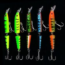 5pcs Plastic Outdoor Bass Bionic Fishing Lure Crank Bait Double Section Hook