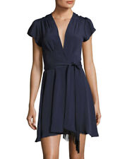 Tularosa Yvonne Crepe Wrap Dress, Navy, Size:L,  #E