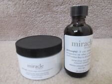 Philosophy Miracle Worker 60 Anti Aging Retinoid Pads and 2 Ounce Solution New