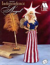 Annie's Attic Crochet Independence Angel Pattern Leaflet #870818 Barbie Fashion