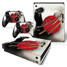 Xbox One X Console Skin Decal Sticker Anime Samurai + 2 Controller Custom Design