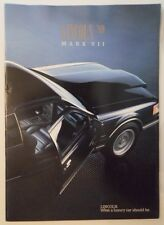 LINCOLN MARK VII orig 1989 USA Mkt Larger Format Sales Brochure - LSC Bill Blass