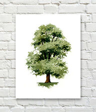 Elm Tree Abstract Watercolor Painting Art Print by Artist DJ Rogers