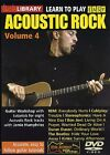 LEARN TO PLAY EASY ACOUSTIC ROCK VOLUME 4 GUITAR LICK LIBRARY DVD TUITIONAL