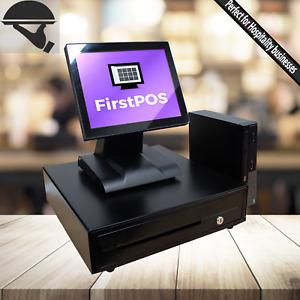 FirstPOS 12in Touch Screen POS Cash Register Till System Bar/ Clubs