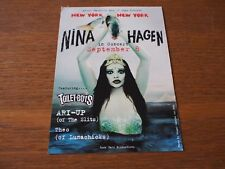 RARE Vintage NINA HAGEN NYC Webster Hall Concert PROMO POSTCARD Toilet Boys 2002