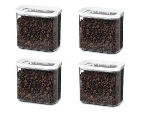 Mepal Modula Voratsdose Kunststoff 1000 ml transparent/weiß 4er Set Aufbewahrung