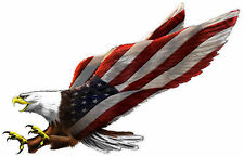 "Screaming Eagle Decal Sticker Window Car Truck SUV American Flag 7"" x 4.4"""