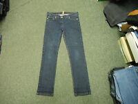 "Denim Co Skinny Jeans Size 14 Leg 31"" Faded Dark Blue Ladies Jeans"