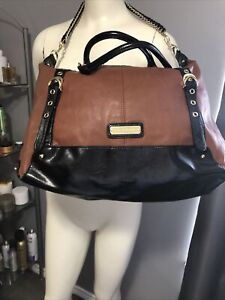 Steve Madden handbag in cognac and black Large