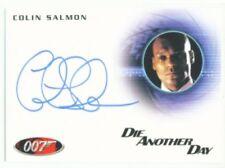 """COLIN SALMON """"AUTOGRAPH CARD A174"""" JAMES BOND MISSION LOGS"""