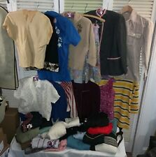 Lot Of 33 Vintage 1940s 1950s Women's Sweaters Blouses Shirts Jacket 1960s 1970s