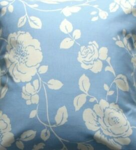 Rosebud blue fabric