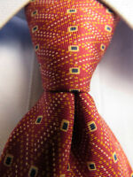 Men's Oliver Valientino Red Silk Tie Made in Italy A27905