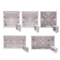 White Single Double Gang Electrical Pattress Box 20mm 29mm 42mm 47mm Backbox