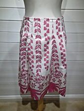 New Look Skirt ~ Size 12 ~ Pink & White ~ A Line ~ Casual Everyday Party ~ 1570