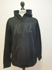 MENS NIKE THERMA-FIT BLACK LINED LIGHTWEIGHT PULLOVER STRETCH HOODIE UK L EU 52