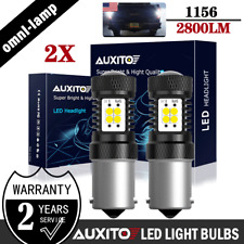2X AUXITO BA15S 1156 P21W 7506 Reverse Back Up Light 2800LM White LED Bulbs EOE
