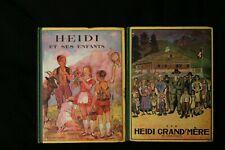 lot de 2 livres Heidi et ses enfants grand mèree 1939
