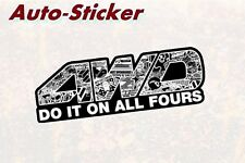 4wd do it on all 4 colorido Sticker Adhesivo digital JDM style Fun tuning Geil