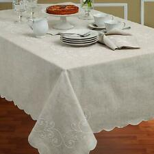 Lenox French Perle 52-Inch x 70-Inch Oblong Tablecloth in Linen