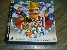 BUZZ QUIZ TV SPECIAL EDITION SONY PLAYSTATION 3 PS3 OFFICIAL SET WIRELESS BUZZER