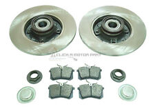 PEUGEOT 307 NEW REAR BRAKE DISCS AND PADS + FITTED WHEEL BEARINGS & ABS RINGS