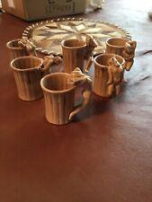 Vintage Shafford Set Of 6 Barrel Shot Glasses Nude Women Handles Pre Owned