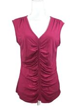 WHBM White House Black Market Women's Pink Sleeveless Blouse Sz Large
