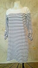 Jones New York Sport Womens Tab Sleeve Knit Dress White/Navy NWOT S msrp $69