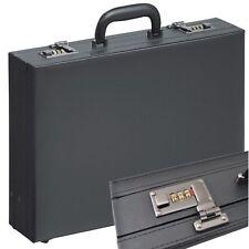 ATTACHE-CASE  VALISE en cuir synthetique  noir  avec des  expansion plis  >TOP<