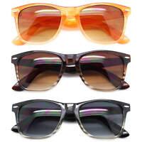 Men Women Classic Square Sunglasses Multi-Color Lens Retro Frame Fashion Shades