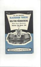 Bolton Wanderers Teams A-B Final Football FA Cup Fixture Programmes