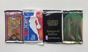 91-92 Upper Deck BB 89 NBA Hoops 90-91 Skybox 93 Four Sport Collection Pack Lot