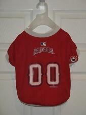 "DOG DOGGY PUPPY CLOTHES RED MLB L.A. ANAHEIM ANGELS JERSEY 19"" - 25"" NEW LARGE L"