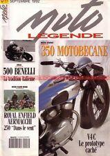 MOTO LEGENDE  17 BENELLI 500 AERMACCHI 250 ROYAL Enfield Continental MOTOBECANE