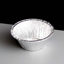 "60 x Foil Dishes Small Cake Tarts Pie Cupcake 3"" Diameter Round 27mm Deep CH-3C"