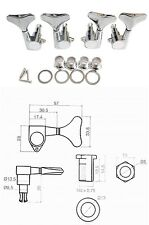 Chrome Bass Guitar Machine Head Tuners 2R2L - NEW