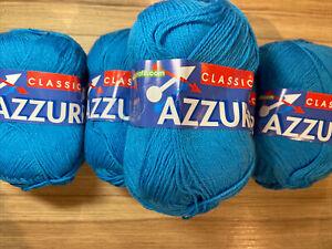 Azzurra Classic By Adriafil 3ply Yarn 5 X 50 G Balls Blue (033)