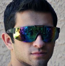 MULTISPORT Wrap Ski Style Sunglasses-Gold Accent