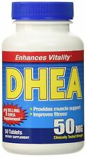 """""""DHEA 50mg Per Pill Once Per Day Daily Dietary Supplement Top Selling DHEA Br..."""